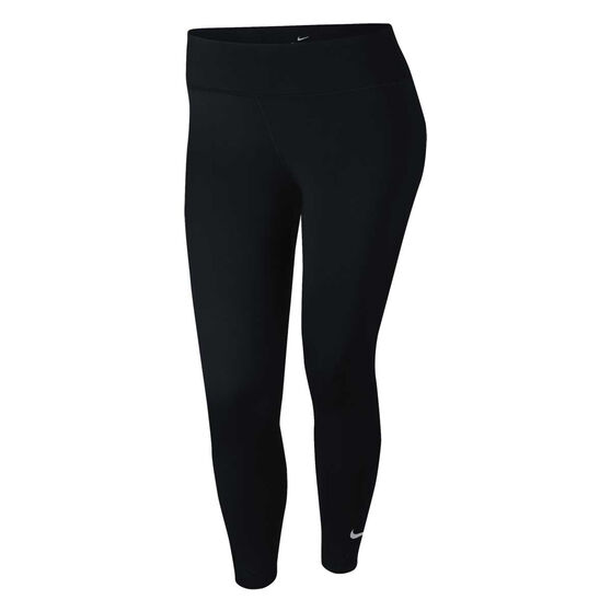 Nike Womens One Luxe Tights Plus, Black, rebel_hi-res