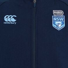 NSW State of Origin Mens Zip Thru Fleece Blue S, Blue, rebel_hi-res