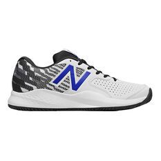 New Balance 696 Mens Tennis Shoes White / Black US 7, White / Black, rebel_hi-res