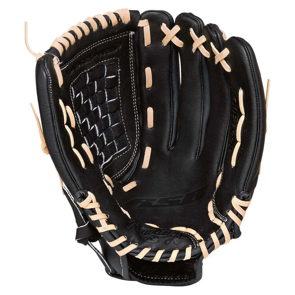 Rebel Sport Inner Gloves: Rawlings SS 13in RHT Baseball Glove Black 13in
