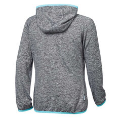 Tahwalhi Girls Glide Full Zip Hoodie Grey / Blue 4, Grey / Blue, rebel_hi-res