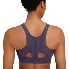 Nike Womens Swoosh UltraBreathe Medium Support Sports Bra Purple XS, Purple, rebel_hi-res