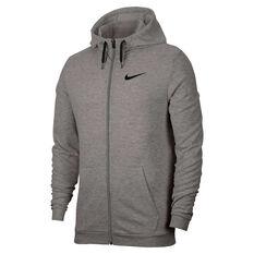 Nike Mens Dri-FIT Full-Zip Training Hoodie Grey XS, Grey, rebel_hi-res