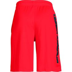 Under Armour Boys Prototype Wordmark Shorts Red / Black XS, Red / Black, rebel_hi-res