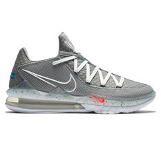 Nike Lebron XVII Low Mens Basketball Shoes Grey/White US 7, Grey/White, rebel_hi-res