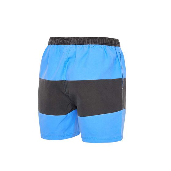 Zoggs Mens Fitzroy 15in Shorts, Blue / Black, rebel_hi-res
