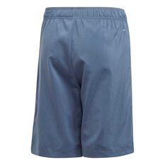adidas Boys 3-Stripes Shorts Blue / White 6, Blue / White, rebel_hi-res