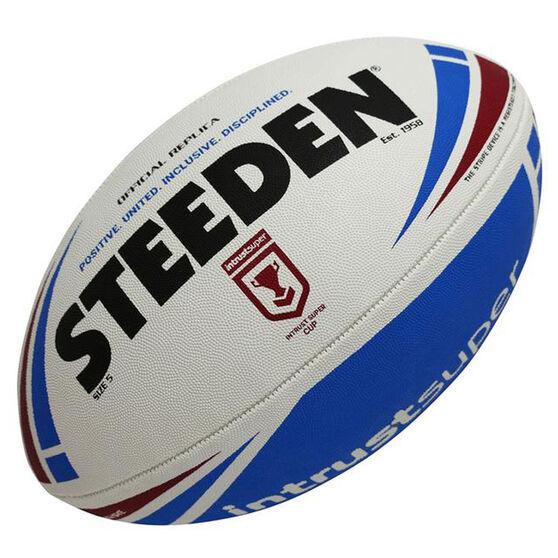 Steeden QRL Intrust Super Cup Replica Rugby Leauge Ball, , rebel_hi-res