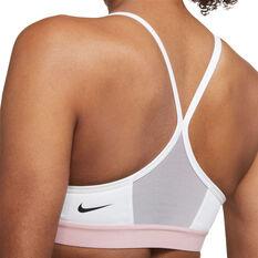 Nike Womens Dri-FIT Indy Light Support Padded Sports Bra, Grey, rebel_hi-res
