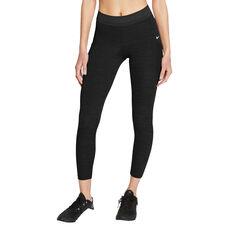 Nike Pro Womens 7/8 Tights Black XS, Black, rebel_hi-res