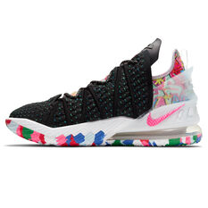 Nike LeBron XVIII Mens Basketball Shoes Black/White US 7, Black/White, rebel_hi-res
