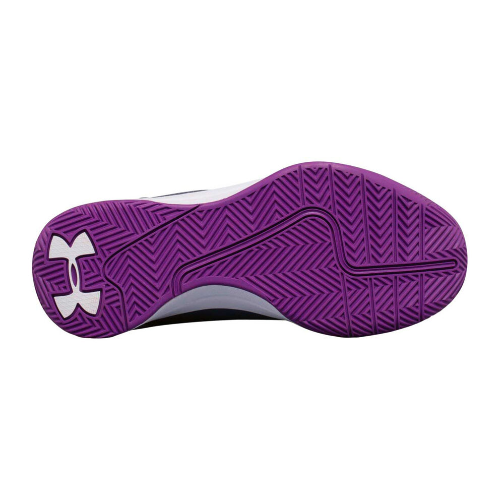 81f9670853b3 Under Armour Jet 2017 Girls Basketball Shoes Purple   White US 4 ...