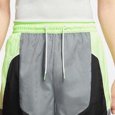 Nike Mens Throwback Basketball Shorts Grey M, Grey, rebel_hi-res
