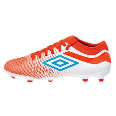 Umbro Velocita IV Club Kids Football Boots White / Blue US 11, White / Blue, rebel_hi-res