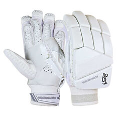 Kookaburra Ghost Pro 5.0 Cricket Batting Gloves White Right Hand, White, rebel_hi-res