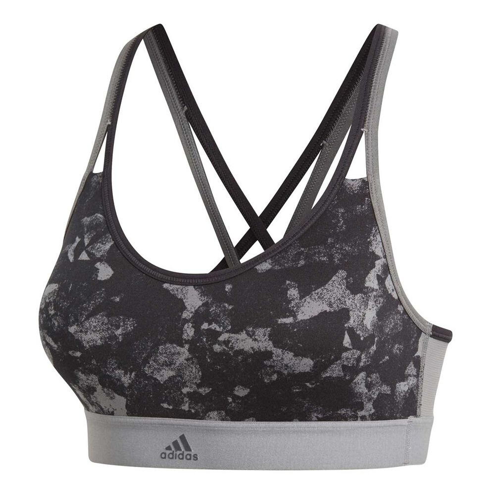 7d45af9495733 adidas Womens All Me Graphic Sports Bra Grey XL Adult