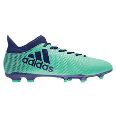 adidas X 17.3 Mens Football Boots Green / Navy US 7, Green / Navy, rebel_hi-res