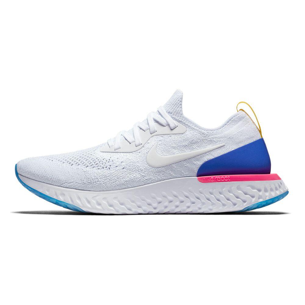 9c759662b5f79 Nike Epic React Flyknit Mens Running Shoes White   Blue US 7