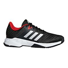 adidas Barricade Court 3 Mens Tennis Shoes Black / White US 7, Black / White, rebel_hi-res
