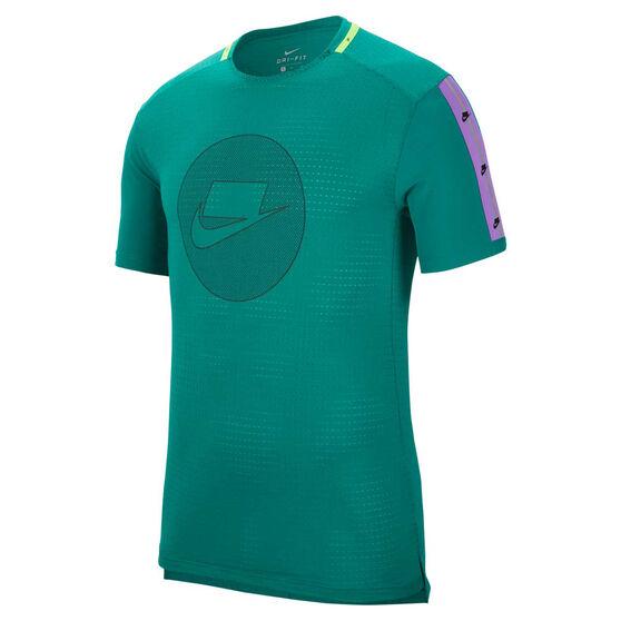 Nike Mens Wild Run Tee, Green, rebel_hi-res