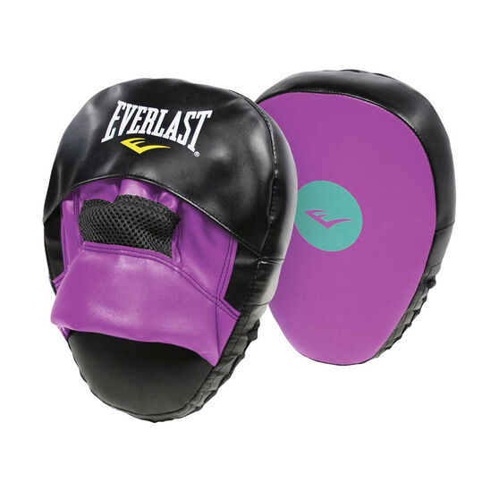 Everlast Boxing Gloves and Boxing Mitts Combo Purple 10oz, , rebel_hi-res