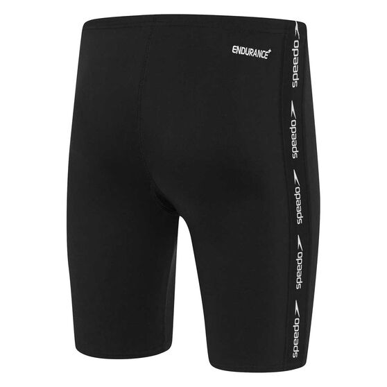 Speedo Mens Superiority Jammer, Black / White, rebel_hi-res