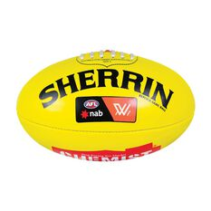 Sherrin AFLW PVC Replica Game Ball Yellow 4, , rebel_hi-res