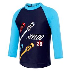 Speedo Toddler Sports Car Long Sleeve Rash Vest Print 3, Print, rebel_hi-res