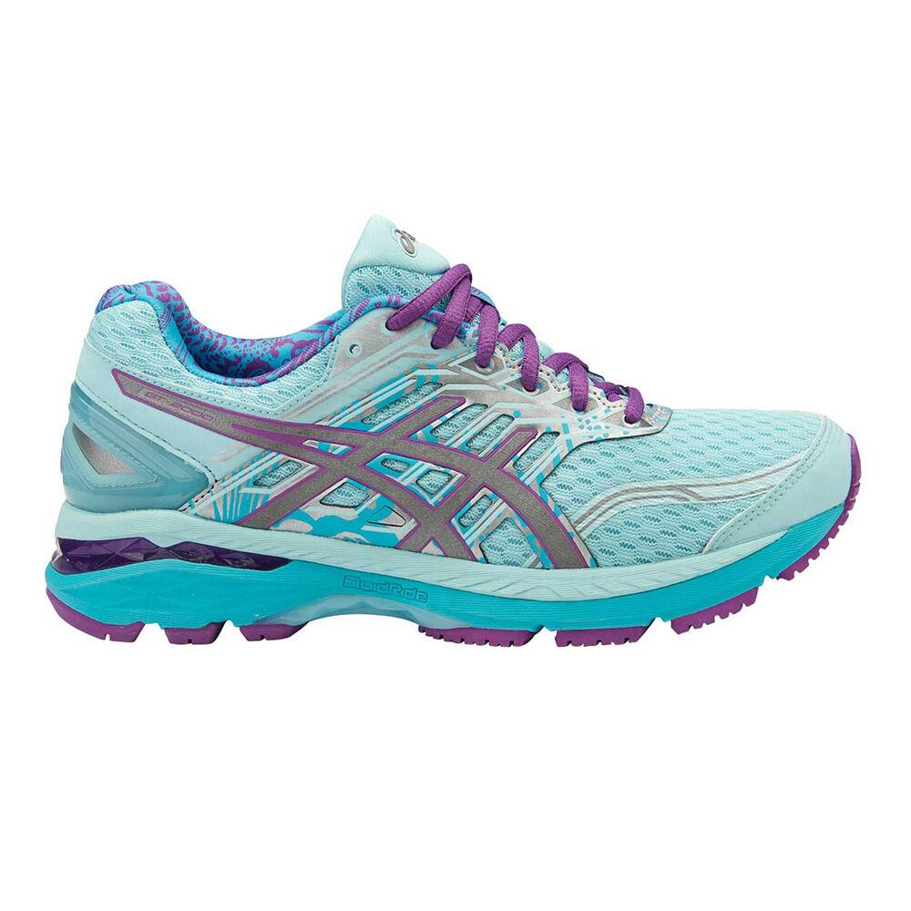 Asics GT 2000 5 Lite Show B Womens Running Shoes Blue   Silver US 6 ... 3ad577ba2