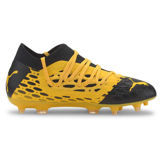 Puma Future 5.3 Netfit Kids Football Boots, Yellow / Black, rebel_hi-res