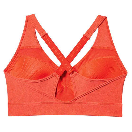 Under Armour Womens Vanish Heather Sports Bra Red XS, Red, rebel_hi-res