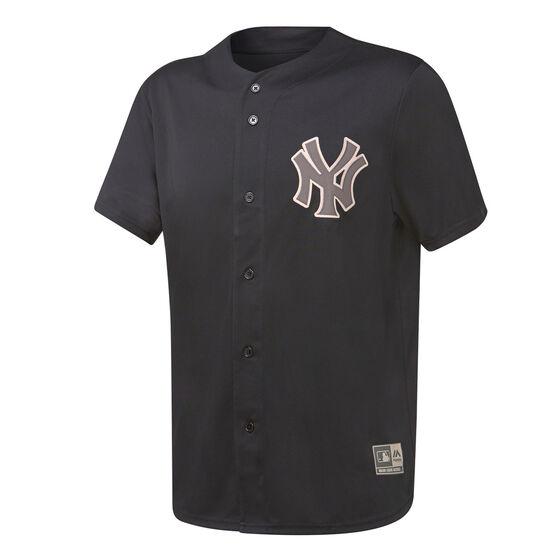 Majestic Mens New York Yankees Tonal Replica Jersey, Black, rebel_hi-res