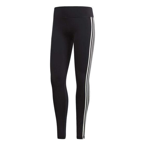 adidas Womens Believe This 3 Stripes Tights, Black, rebel_hi-res