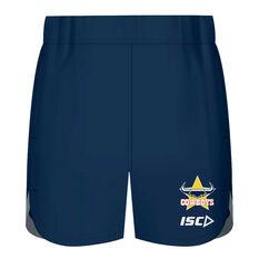 North Queensland Cowboys 2020 Kids Training Shorts Navy 6, Navy, rebel_hi-res