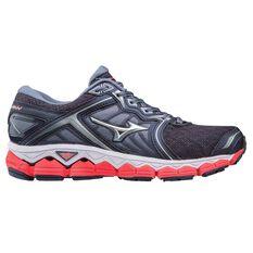 Mizuno Wave Sky Womens Running Shoes Grey / Pink US 6, Grey / Pink, rebel_hi-res
