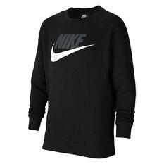 Nike Boys VF NSW Club HBR Sweatshirt Black XS, Black, rebel_hi-res