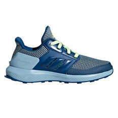 adidas Rapidarun Kids Running Shoes Blue / Grey US 11, Blue / Grey, rebel_hi-res
