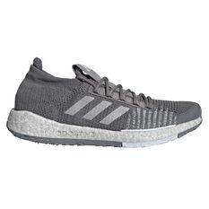 adidas Pulseboost HD Mens Running Shoes Grey / White US 7, Grey / White, rebel_hi-res