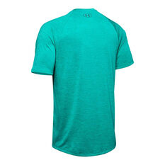 Under Armour Mens Tech 2.0 Training Tee Teal XS, Teal, rebel_hi-res