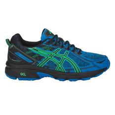 Asics GEL Venture 6 Kids Training Shoes Blue / Green US 1, Blue / Green, rebel_hi-res