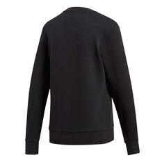 adidas Womens Essentials Linear Sweatshirt Black / White XS, Black / White, rebel_hi-res