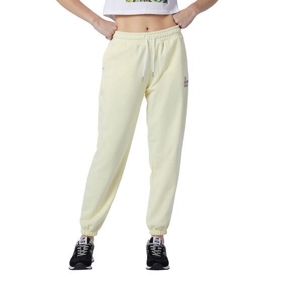 New Balance Womens Athletics Intelligent Choice Sweatpants, Yellow, rebel_hi-res