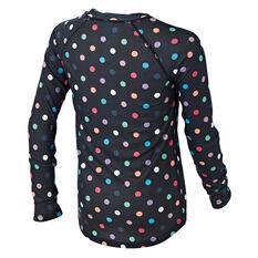 Tahwalhi Kids Peak Printed Thermal Long Sleeve Top Black / Multi 4, Black / Multi, rebel_hi-res
