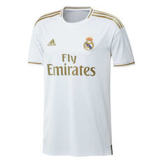 Real Madrid CF 2019/20 Mens Home Jersey White / Gold S, White / Gold, rebel_hi-res