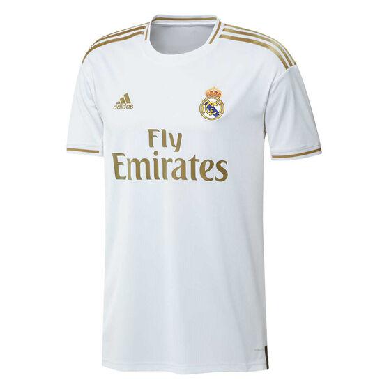 Real Madrid CF 2019/20 Mens Home Jersey, White / Gold, rebel_hi-res