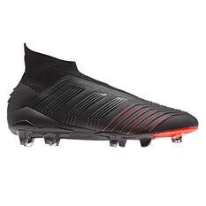 adidas Predator 19+ Mens Football Boots Black / Red US Mens 7.5 / Womens 8.5, Black / Red, rebel_hi-res