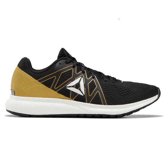 Reebok Forever Floatride Mens Running Shoes, Black / White, rebel_hi-res
