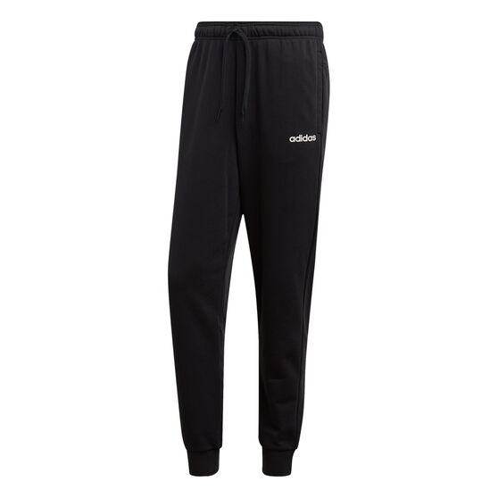 adidas Mens Essentials French Terry Tapered Track Pants, Black, rebel_hi-res