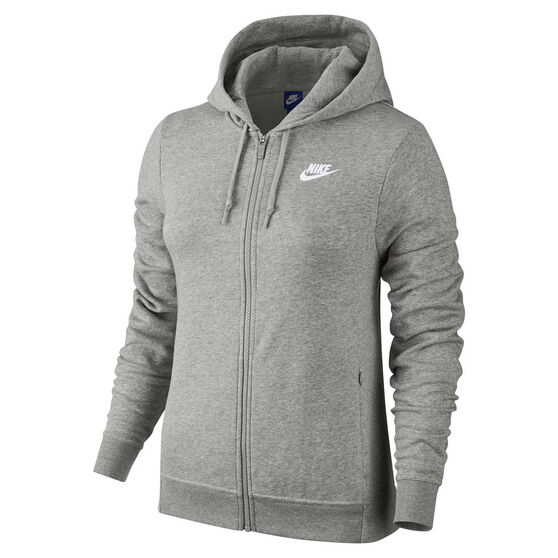 04a575b4dfae Nike Womens Sportswear Hoodie Grey   White XS Adult