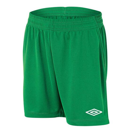 Umbro League Junior Football Shorts, Emerald, rebel_hi-res